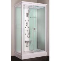 Quality Cheap square framed sliding glass door steam shower cabin with seat for sale