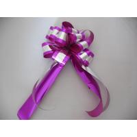 Quality Custom Printed Gift Wrap Pull Ribbon Bows Christmas Christmas Bows And Ribbon for sale