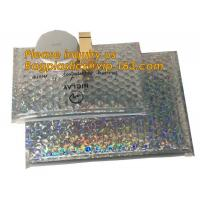 China air mail metallic holographi rose gold bubble padded mailer / ziplock bubble bag/ slider bubble bag,Holographic Factory on sale