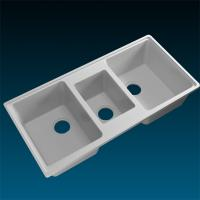 Quality environmental protection Seamless Gloss Rectangle White Pure Acrylic Solid Surface Sinks for sale