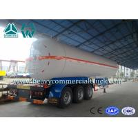 Quality White Carbon Steel Safety Lpg Transport Trailer With Air Spring Suspension for sale