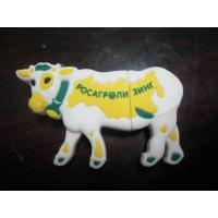Quality Customized Cool PVC USB Storage Drive With Cow Shape , 4GB USB Thumb Drive for sale
