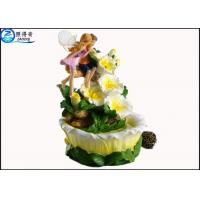 China Angel Poly Resin Home Decoration Crafts For Wedding / Gift Ornaments , Lucky Fountain Basin on sale