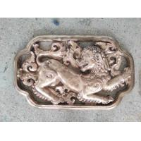 Quality Decorative Metal Animal Sculptures , Ancient Bronze Wall Relief Sculpture for sale