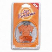 Quality Vent/Hanging Air Freshener in Dog Design, Inside Flavor, Various Fragrances and Colors are Available for sale