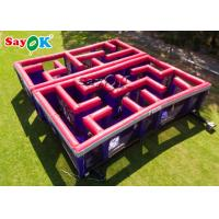 China Red Inflatable Obstacle Course / Carnival Potable Maze Game Laser Tag Inflatable Laser Maze on sale