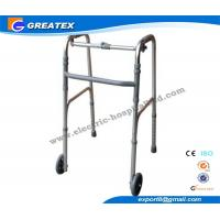 Quality Collapsible Aluminum Alloy Rolling Folding Rollator Walker Paddle with Two Castors for sale
