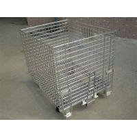 Quality Wire Containers With Pulls In Head & End, 4 Wheels On Bottom for sale