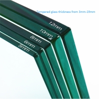 5mm 8mm 12mm thick 6mm 10mm tempered glass price