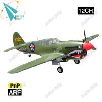 Quality P40 Warhawk 12CH EPO Material Electric RC airplane propeller plane for sale