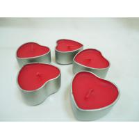 Quality Red Floating Heart Scented Tin Candles for Bar, Parties for sale
