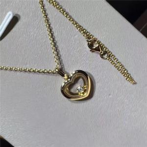 Quality 18K Yellow Gold Diamond Pendant , Customized Women'S Floating Diamond Necklace for sale