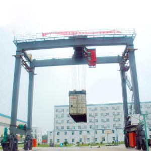 Quality Workshop Adjustable , Double Girder RMG Type 35 - 40.5t Ship Gantry Crane for sale