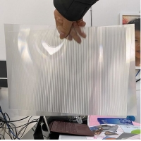 Quality OK3D factory manufacture 0.9mm 70LPI PET Lenticular Sheet for 3d lenticular printing by injekt print and UV offset print for sale
