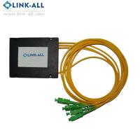 Quality 1X2/4/8/16/32/64 Optical Fiber PLC Splitters ABS Box Type with SC/APC connector for FTTH network for sale