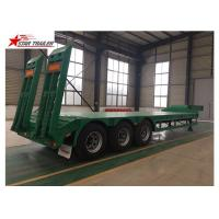 Quality 50T Payload Equipment Hauling Trailers , Custom Colors Heavy Equipment Hauling Trailers for sale