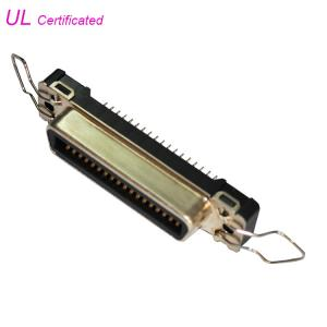 Quality 180 Degree Straight PCB Mounting 36 Pin Centronic Female Connector For Printer for sale