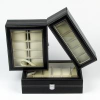 Quality Leatherette Jewelry Collection Watch Display Box Jewellery Case for sale