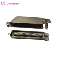 Quality Custom PBT IDC Male Connector Plug 50 Pin Connector With Screws for sale