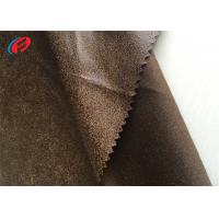 Quality 100% Polyester Fake Leather Sofa Fabric , Warp Knitted Faux Suede Fabric for sale