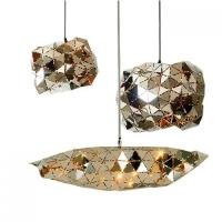 China Home Decoration Metal Cage Pendant Light Stainless Hanging Chrome Finish on sale