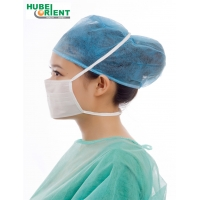 Quality CE Daily Protection Tie On Disposable Face Mask 17.5*9.5cm for sale