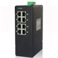 Quality 8-port unmanaged 10/100/1000M industrial Ethernet switch, DIN rail, double power supply for sale
