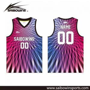 Saibowins OEM 100% Polyester Custom Design Sublimated Basketbll Jersey