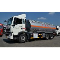 Quality 22cbm Fuel Oil Delivery Truck with 336 Hp engine , RHD optional Oil Tank Trailer for sale