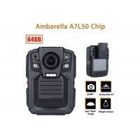 Buy cheap 1296P IR LED light security body camera recorder with remote control for police from wholesalers