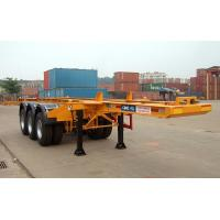 Quality Flatbed Shipping Container Delivery Trailer High Efficiency For Port Transport for sale