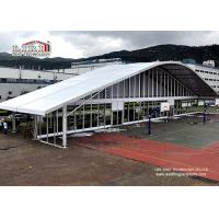 Quality 40m Width Event Center Clear Span Tents Wedding Arch  with Glass Wall for sale