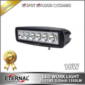 Quality 18W led work light black white marine boating fishing mini light bar 4x4 off-road truck ATV UTV motorcycle spot fog lamp for sale