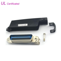Quality 90 Degree Male Plug 36 Pin Centronics Solder Connector With Plastic Cover for sale