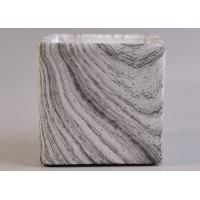 Quality Craft Water Transfer Marble Square Concrete Candle Jars Planting Containers for sale