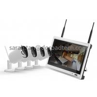 Quality 720P 4CH LCD Screen NVR Wireless IP Camera with Monitor Kit 4 Channel Home CCTV Kits for sale