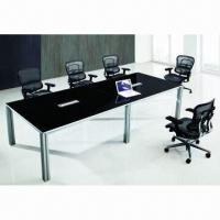 Quality Manca Series Conference Table, made of black mirror-painted MDF for sale