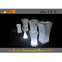 PE material Glowing Cocktail table , Durable Outdoor Bar Furniture