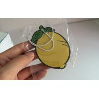Quality Lemon Shape Hanging Paper Air Freshener For Car / Home / Closet Color Optional for sale