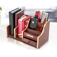 Quality ODM Stable Durable Plastic Office Pen Holder Design With Wood Pattern for sale