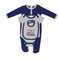 China Bule Newborn Baby Clothes Set Baby Outfit Sets Sleep Play Bib Comfortable on sale
