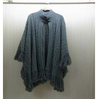 Quality Winter Mohair Womens Chunky Sweaters Poncho Knit 100% polyester for sale