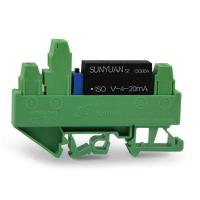 Quality DIN3 Small Size DIN Rail Mounted Voltage to 4-20mA Current Isolated Converter IC DIN3 ISO V-4-20mA for sale