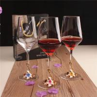 China Factory Price Decorative Red Wine Goblet Gift Craft Crystal Enamel Glass Set for Sale on sale