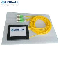 Quality 1X2/4/8/16/32/64 Optical Fiber PLC Splitters ABS Box Type without connector for FTTH network for sale