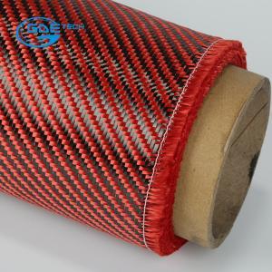 "Quality 1st Quality Carbon Kevlar Hybrid Fabric 50"" width,Kevlar aramid fiber red fabric for sale"