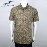 Buy cheap Woven Yarn Dyed Mens Fishing Shirts Short Sleeve Light Weight Quick Drying from wholesalers