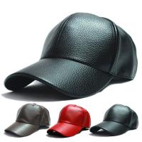Buy cheap Winter PU Leather Unisex Baseball Caps 5 Panel Snapback Biker Trucker Outdoor from wholesalers