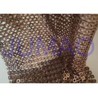 Quality Brown Hollow 4 Mm Metal Sequin Fabric Cloth For Interior Or Exterior Drape for sale