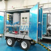Quality Two Stage Vacuum Transformer Oil Dehydration Machine with Trolley for sale
